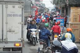 ラッシュアワー時の交通事情