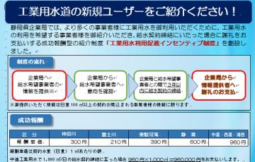 工業用水を利用しませんか! 静岡県企業局